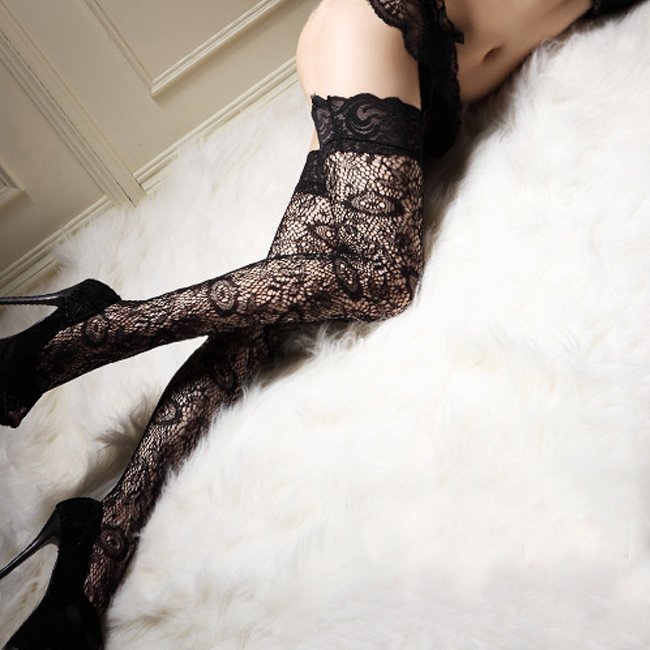 Exotic Apparel Fcare Summer Stockings Meia Ultra-thin Anti-hook Wire Was Thin Legs Nightclub Princess Sexy Bow Lace Thigh Stockings Factory Cheapest Price From Our Site