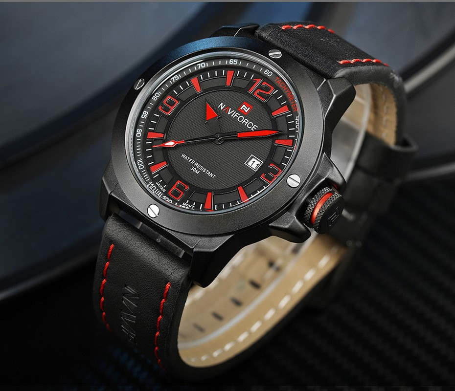 2017 Nouveau Luxe Marque Naviforce Hommes Classique Militaire Montres Hommes de Quartz Date Horloge Homme Poignet Montre de Sport Relogio Masculino 16