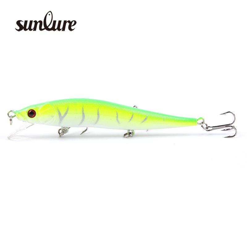1PC 11.5cm/13g Fishing Lure Minnow Crankbait Hard Baits with 3 Treble Hooks iscas artificiais para pesca fishing tackle ZB291 1pcs high quality 5 4g 6cm fishing lures minnow crank bait crankbait bass tackle treble hooks fishing tackles hard baits pesca