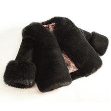 Dollplus 2020 inverno meninas casaco de pele moda elegante bebê menina do falso casacos de pele e casacos grosso quente parka crianças boutique roupas