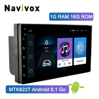 Navivox 7'' 2 Din Car GPS Radio Player Android 8.1 GO Universal Radio GPS Navigation Audio Player For Nissan Toyota Hyundai Polo