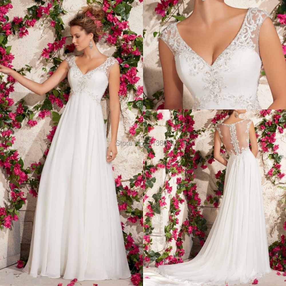 bridal dresses empire wedding dresses floor length chiffon empire jewel chapel train wedding
