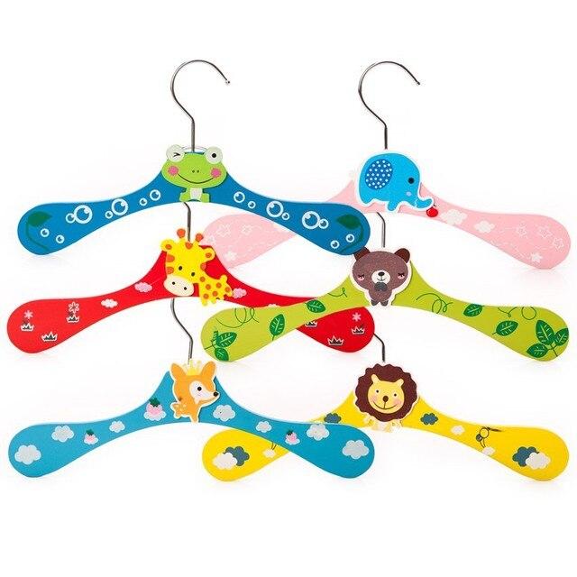 4 Stks Cartoon Baby Kinderen Kids Kinderkamer Houten Coat Kleding