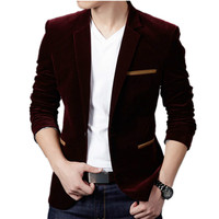 2019 Handsome Young Student Small Suit Slim Fit Blazer Men Fashion Business Casual Terno Masculino Dress Blazer Spring New Men