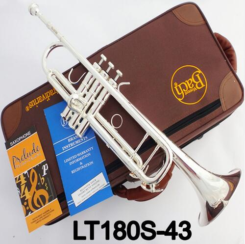 Musical Instruments Careful Professional Bach Tr-197gs Trumpet Silver Plate Pipe Body Carved Bb Trumpet Drop Adjustable Trompeta Instrument