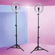"""10 """"kamera stüdyo halka ışık Video LED güzellik halka ışık fotoğrafçılık kısılabilir yüzük lamba + Tripod Selfie/canlı gösteri"""
