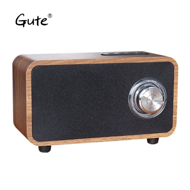 Gute BEN Bluetooth speaker altavoz portable FASHION knob woofer FM radio wood enceinte bluetooth portable puissant caixa de som