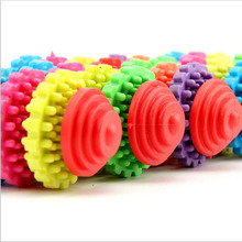 2PCS Healthy  Pet Dog Toys Teeth Gums Chew Gear Toy Chew Training Tool Colorful Rubber Puppy Dental Teething Toy
