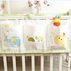 طفل الوفير القطن سرير المنظم سرير أطفال (مهد) حقيبة تخزين قابلة للحمل لعبة حفاضات جيب ل الوليد سرير طقم سرير اكسسوارات