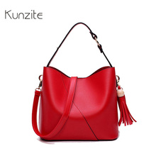 Kunzite Brand Fashion Bucket Women Bag Designer Handbags High Quality PU Leather Shoulder Bag For Women Ladies Handbags Hot 2017