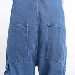 Image 5 - سعر خاص الرجال عادية فضفاض جيب أفرول مريح الأزرق الدنيم حللا حجم كبير الجينز للرجل حجم 32 34
