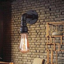Industria retro lámpara de pared de Loft Americano corredores Bar Cafe pub Restaurante lámpara de pared, luz óxido imitación de la vendimia de tuberías de agua sujetador