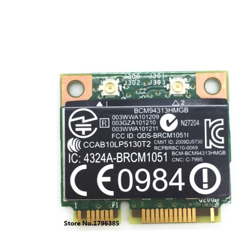 SSEA für BroadCom BCM94313HMGB BCM4313 Wifi + Bluetooth 4.0 Mini-PCI-E 300Mbps-Karte für HP G4 G6 DV6 C7 CQ43 CQ57 SPS 657325-001