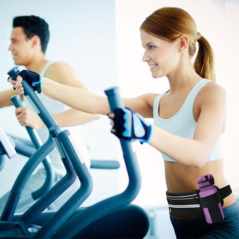 HTB1ylcjKh1YBuNjy1zcq6zNcXXaz 2019 New Men Women Gym Fitness Pocket Waterproof Sports Waist Bag Pack Belly Belt Bag Outdoor Running Waist Bags Simple Solid