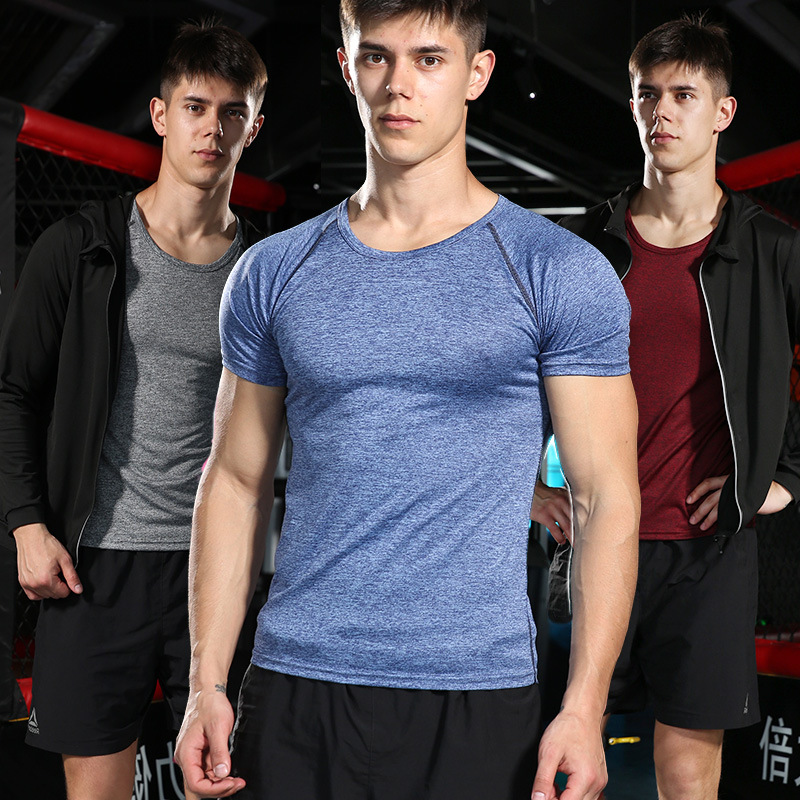 HD580 Quick Dry Short Sleeve T-shirt Men's Sports Jacket Sweat Absorbing Breathable Basketball Running Fitness