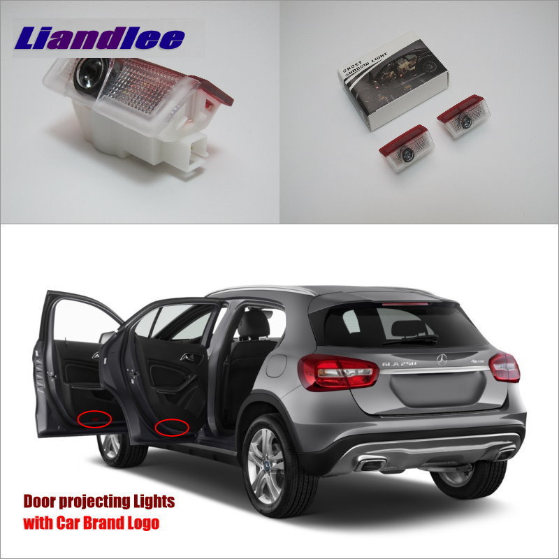 Liandlee Car LED Courtesy Welcome Lights For Mercedes Benz A 180 200 260 2013 Projector Light Of Car Projector Vehicle Door Lamp