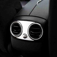 Aluminum alloy trim Rear air conditioning Cover Car Accessories For Mercedes Benz C Class C200 C180 C300 Sedan W205 2015 2016