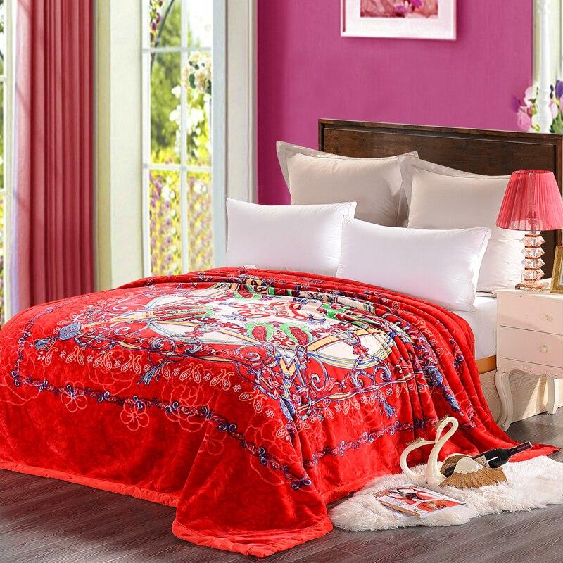Рашелевое одеяло зима теплый плед домашнее постельное белье 195*225 см 3000 г Лебедь - 5