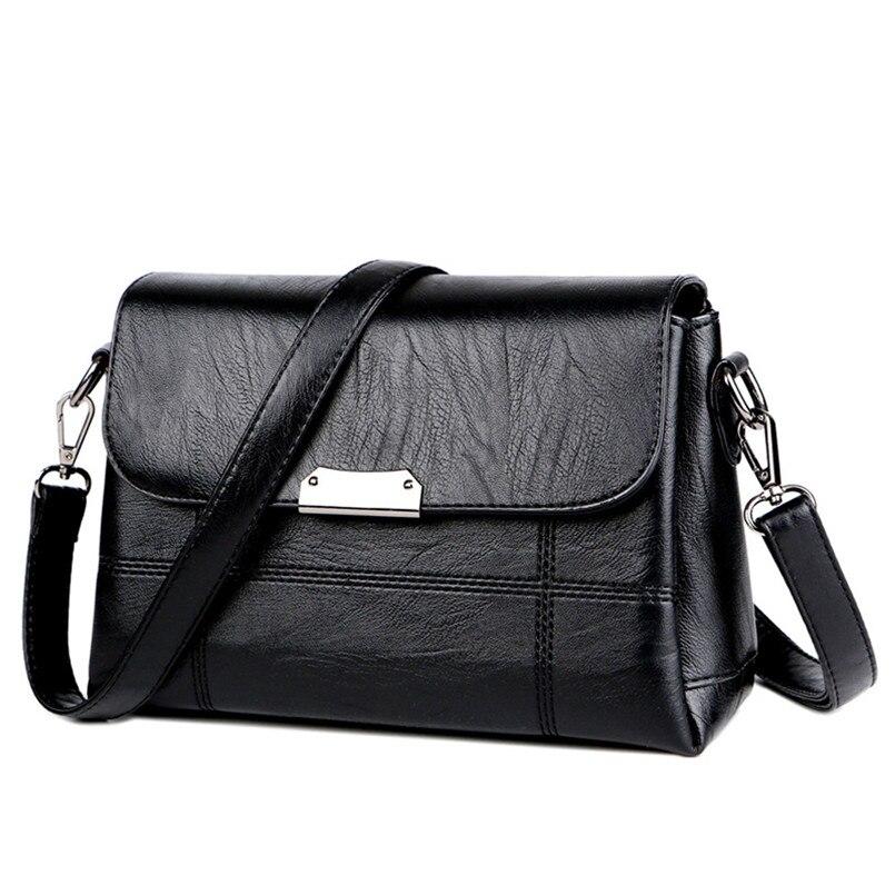 New Arrival Fashion Women Hasp Messenger Bag Ladies Leather Shoulder Bag Vintage Cover Phone Crossbody Bag 2018 bolsos mujer S