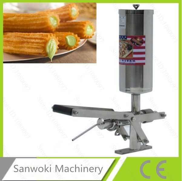 5L capacity 304 Stainless steel churros filling machine churro filler churro filling machine cream filler cream