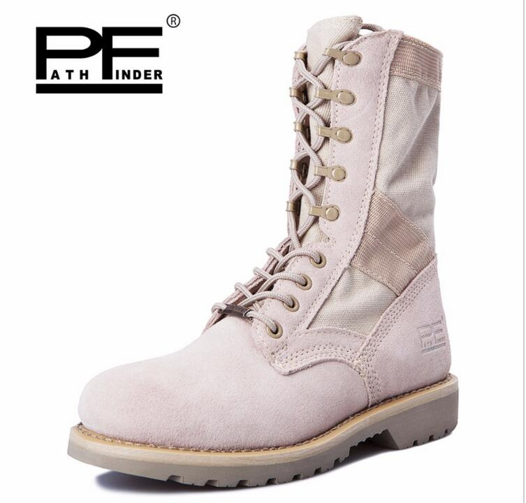 Pathfind Mens safety Leather Martin man Tooling military desert Boots Men snow Outdoor high styles sport Shoes Retro men Boots maritime safety