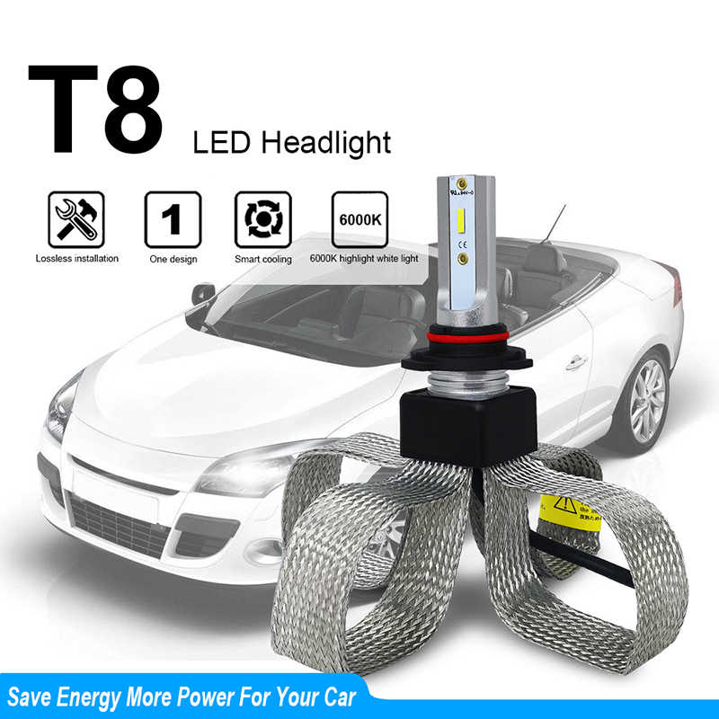 New Car Headlight Led H4 H1 9006 Hb4 9005 Hb3 H11 H7 Led Bulb Automobiles Lights Csp Lamp 6000k 12v 24v