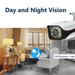 Image 2 - Home Überwachung AHD Kamera 4MP Wasserdichte Outdoor CCTV Kamera Mit 6PCS ARRAY IR LED ONVIF E mail Alarm nachtsicht 3,6mm objektiv