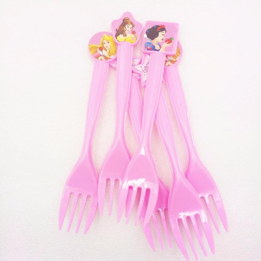 6pcs/bag Princess Party Supplies Kids Disposable Plastic For