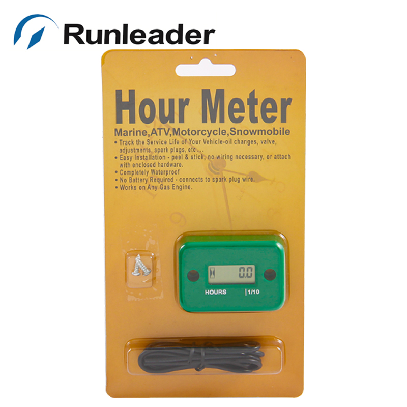Hour Meter for Gas Engine outboard Motocycle ATV Pit bike chipper Snowmobile motorbike jet ski chainsaw pit bike Boat RL-HM006