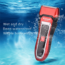 Dry Wet Waterproof Electric Shaver Rechargeable Men