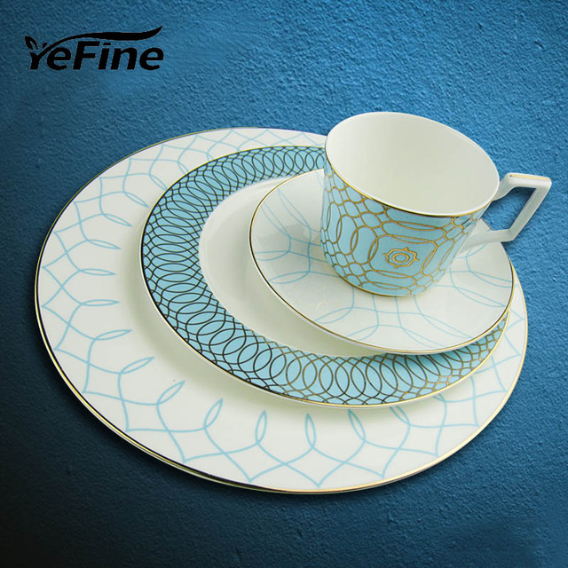 kitchen china dishes sinks okc yefine ceramics luxury tableware set advanced bone and plates accessories dinner porcelain