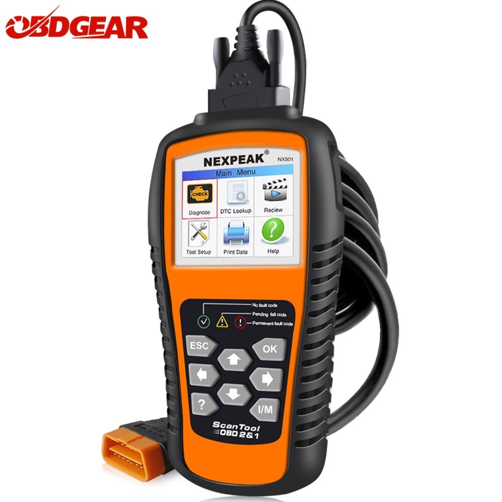 Newest OBD2 Automotive Scanner NEXPEAK NX501 Auto Diagnostics Scanner One Click Update OBD2 Diagnostic Tool Better Than ELM327