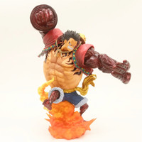 24cm ONE PIECE Monkey D Luffy Gear Fourth Fighting Animation Figure Model figurine