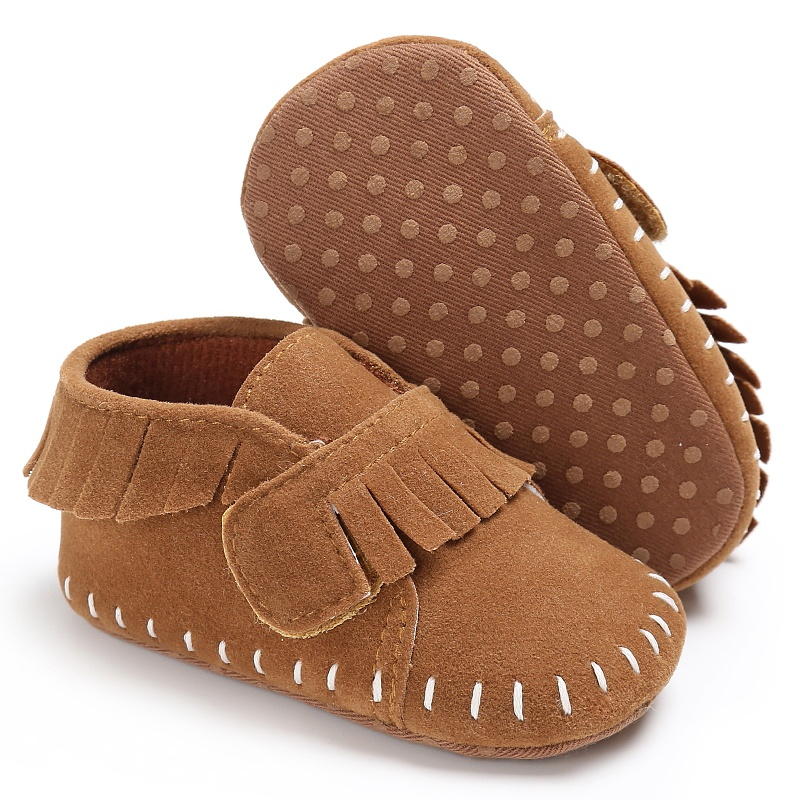 Newborn Shoes Classic Baby Moccasins Soft Moccs Stitched Soft Soled First Walkers Infant Sneakers