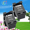 2pk For HP 301 301XL black ink cartridges Compatibles Printers Deskjet 1050 2050 2510 3510 D1010 1510 2540 Series with chip