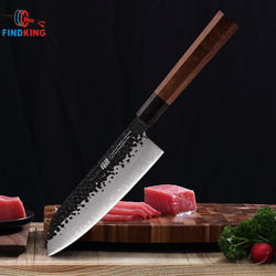 FINDKING 7 inch santuko knives Clad Steel Japanese Professional Octagonal Handle Sushi Knife Kitchen Santoku Knife chef