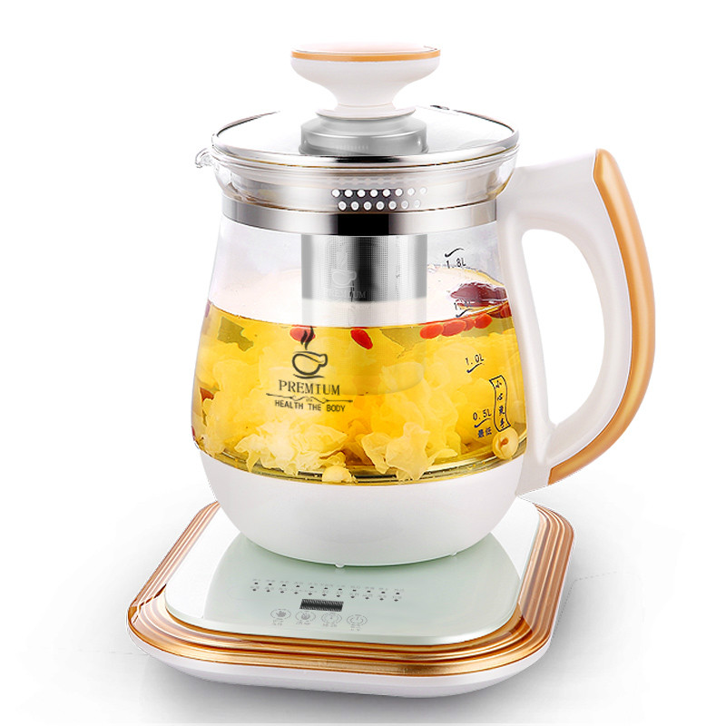 Electric kettle Full automatic and thickened glass multi-function flower teapot black tea brewed heater