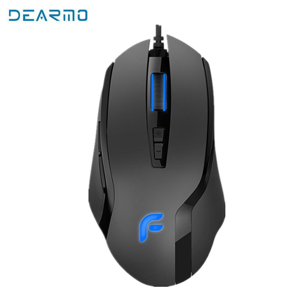 DEARMO Gaming Mouse 7 Programmable Buttons with 100-6000DPI adjust by 100DPI for FPS MOBA gaming mice