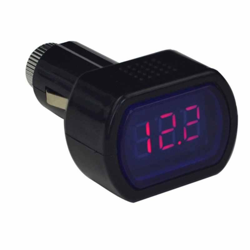 Portable Digital Monitor Auto Volt Voltmetro Tester Cigarette Lighter Lcd Voltage Tester di Pannello
