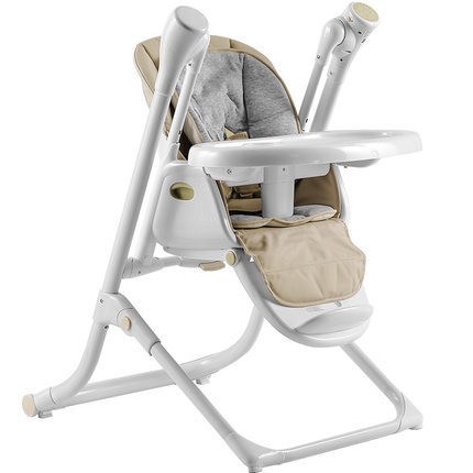 Electric Baby Swing Sleeping Highchair 2 in 1 Children's Dining Chair Rocking High Chair
