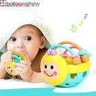 ★  BalleenShiny Baby Cartoon Bee Hand Knocking Bell Погремушки Игрушки Мягкие Гантели Ранние Развивающи ✔