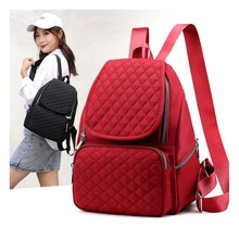 Womens bag new nylon waterproof Mummy shoulder fashion solid color diaper backpack leisure travel backpac