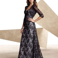 c44a099f7db free shipping bridal lace bolero jacket brides maid Unique Black Lace  Formal Gown good Evening mother of the bride Dresses