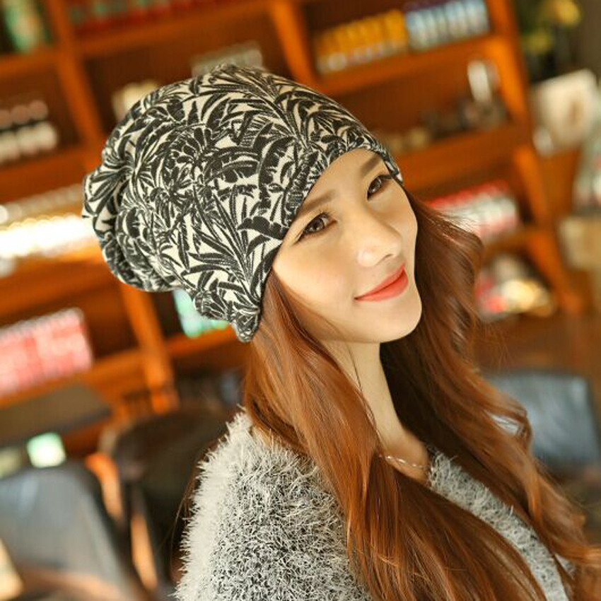 1 Pcs 2015 New Autumn Winter Women Knitted Cap Thickening Empty Top Skullies Beanies Hat Scarf Two Use 4 Colors Free Shipping