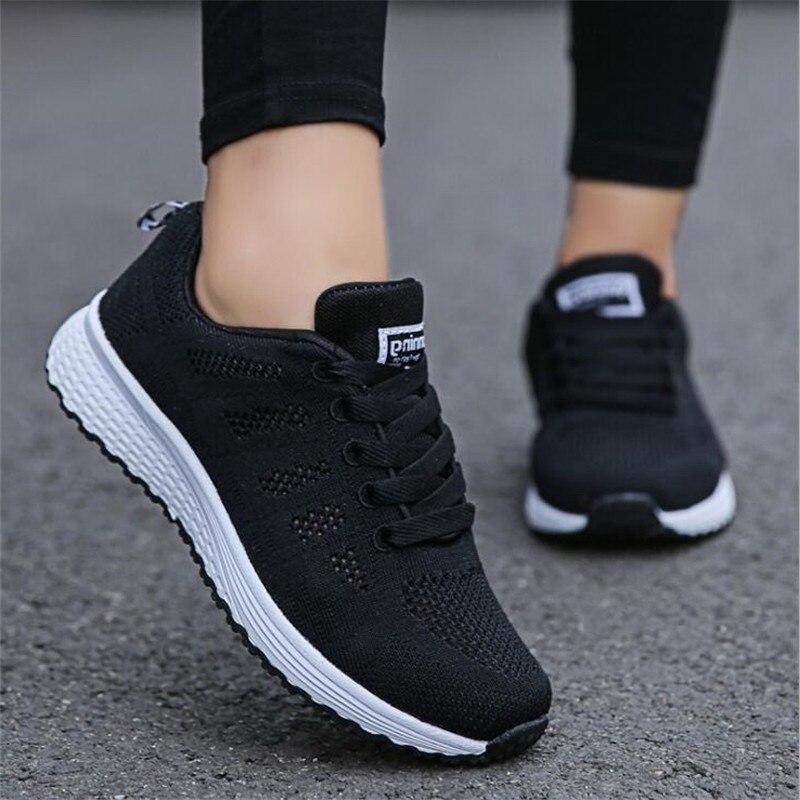 Women Casual Shoes 2019 Autumn Women Sneakers Fashion Breathable PU Leather Platform Women Shoes Soft Footwears