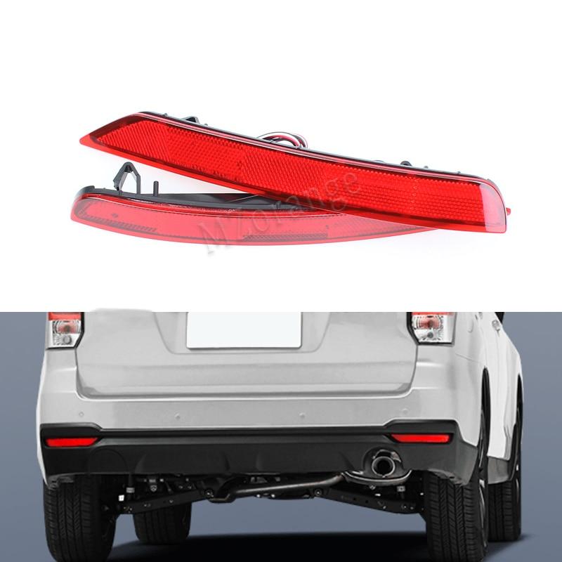 2pcs/Set Red LED car styling rear light tail light For Subaru Forester impreza legacy Reflector headlight fog lamp 08~16