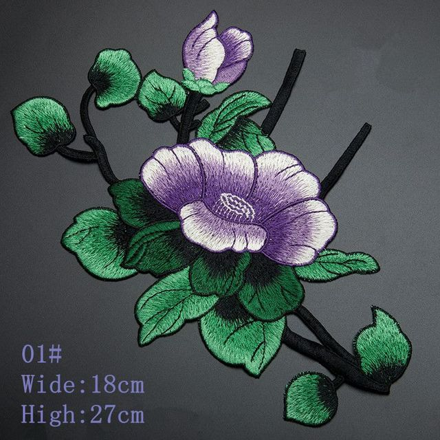 US $11 61 10% OFF|Water Lily Lotus Decorative Applique Large Patch  Embroidered Leaves Flowers Fill Holes DIY Accessories Without Glue-in Lace  from