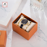 Fashion Black Lady Wristwatch Blue Simple Women Bracelet Watches Casual Stylish Female Gift Clock 3 Pcs set Zonmfei Brand Clock