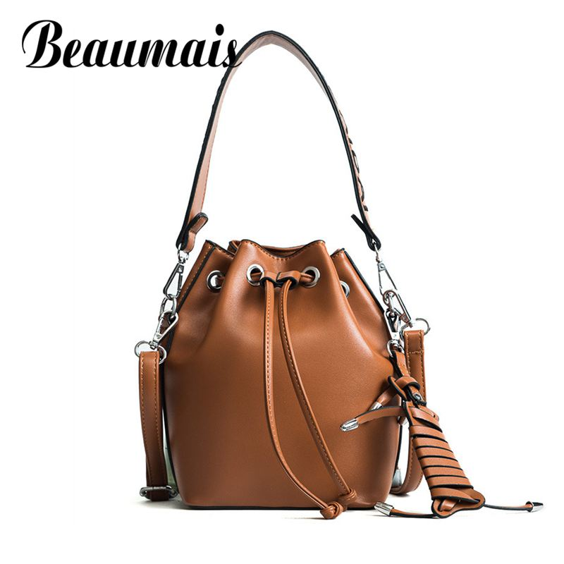 Beaumais Women Shoulder Bag Fashion Letter Strap Women messenger bags Luxury Handbags Women Bags Designer Crossbody Bag DF0465