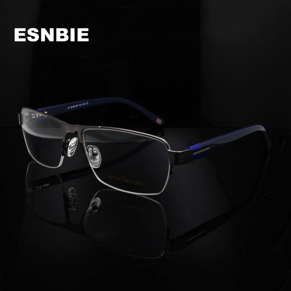 9991de2846f ESNBIE New Rectangle Oversized Eyeglasses Frame Pilot Eye Glass Frames For Men  Myopia Optical Glasses Mens